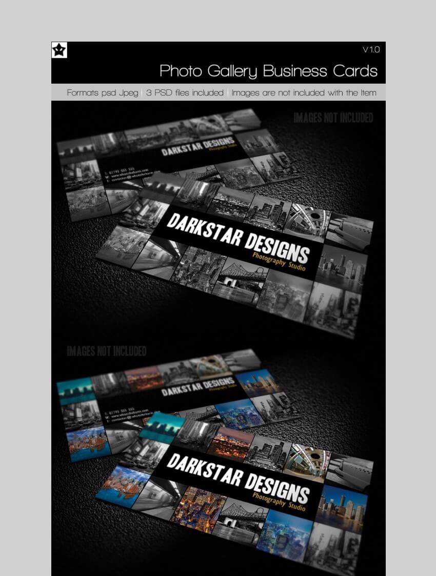 Photo Gallery Business Card - Creative Business Card Template