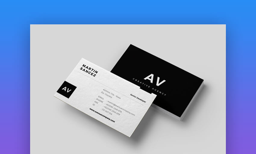 Business Card - Simple Customizable Business Card Template