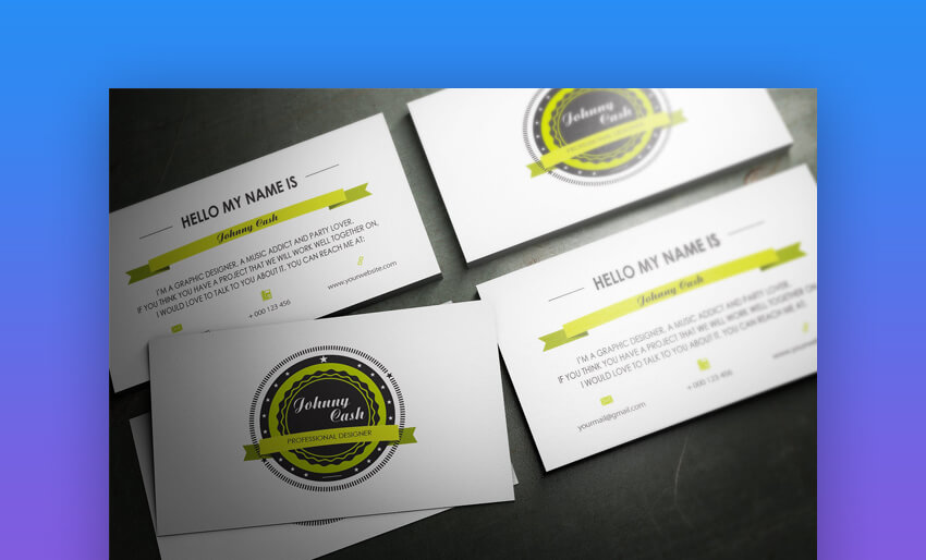 Elegant Business Card - Custom Made Business Card Template