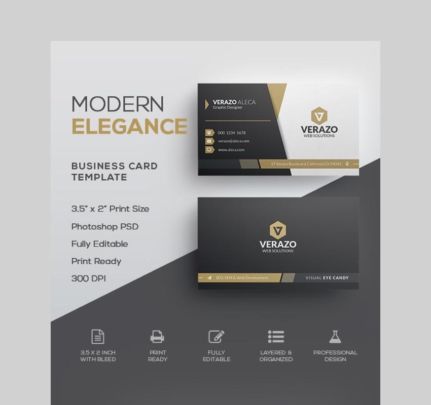 Modern Elegance Template - Custom Design for a Business Card Template