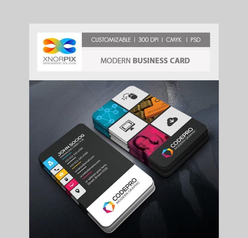 Modern Business Card - Custom Made Business Card Template