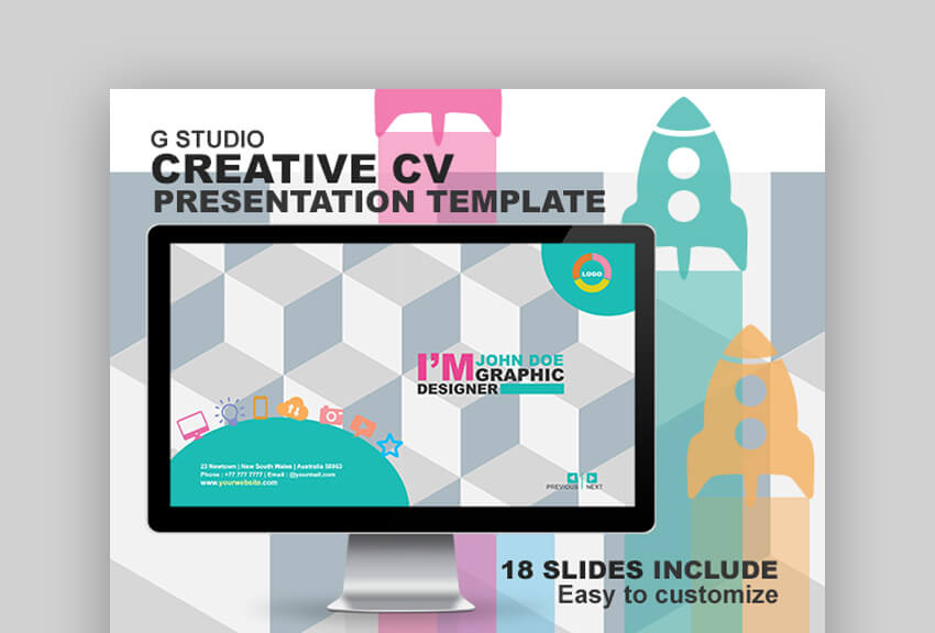 GStudio - Creative Resume PowerPoint Template