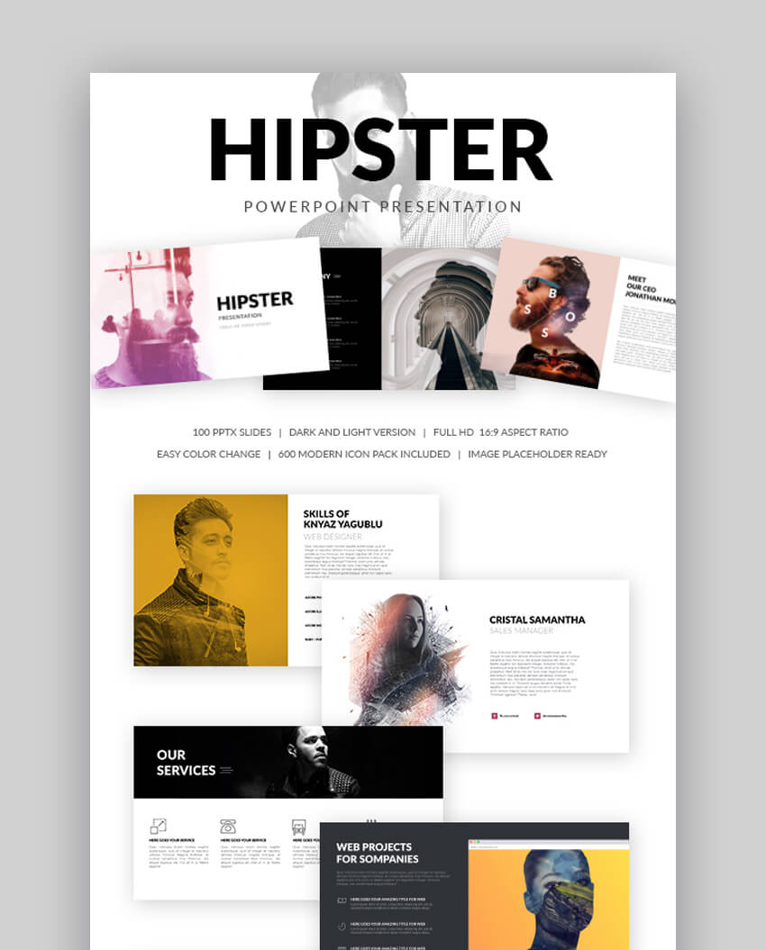 Hipster - Resume Template for PowerPoint