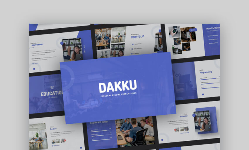 Dakku - Creative PowerPoint Resume Template