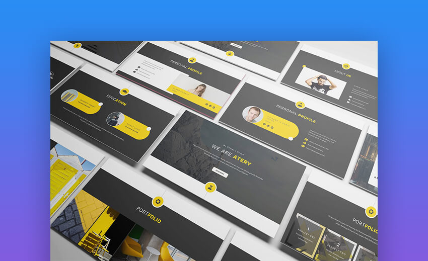 Atery - Modern Resume PowerPoint Presentation
