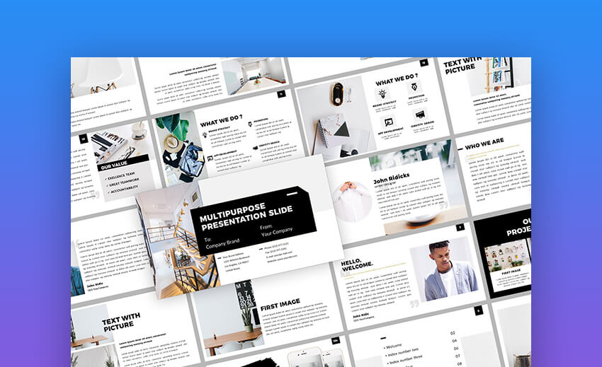 Clean PowerPoint Template - Multipurpose Resume in PowerPoint Format