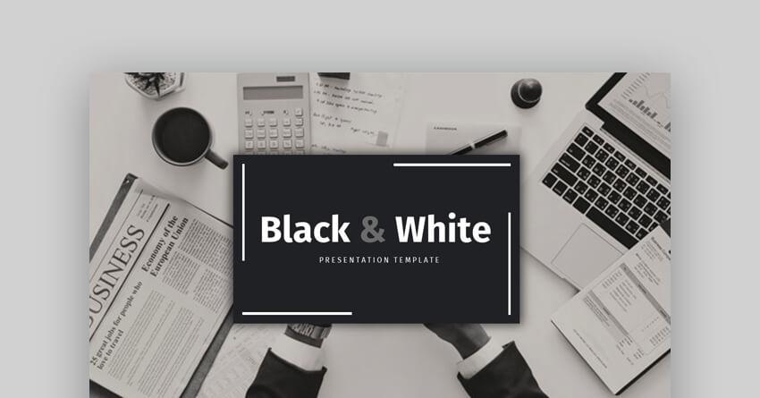 Black and White  - Elegant Google Slides Template