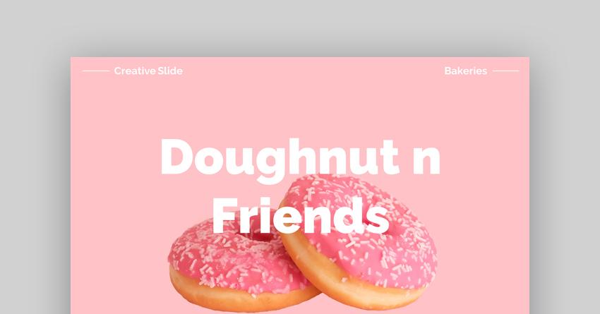 Doughnut n Friends - Vibrant Google Slides Template for Bakeries