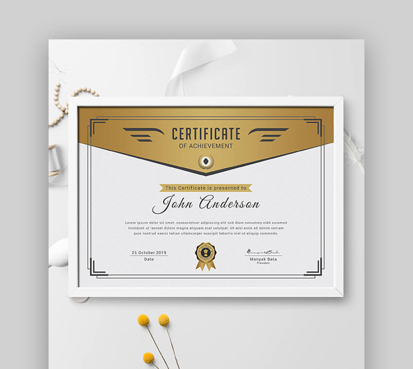 Certificate - Clean Certificate of Achievement