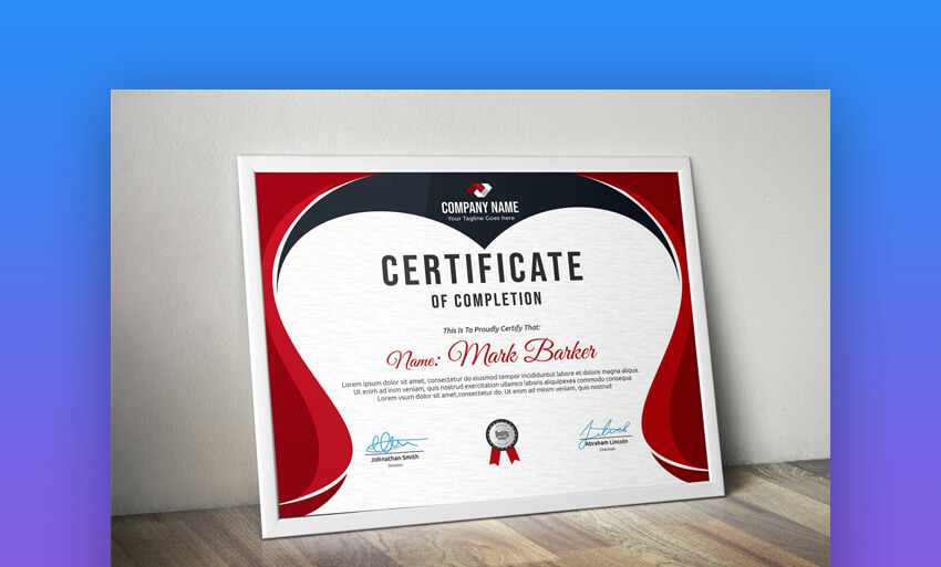 Certificate - Awesome Certificate of Completion Template