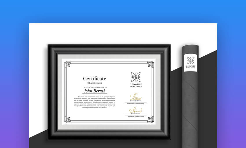Certificate - Simple Certificate of Achievement Template