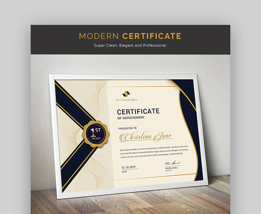 Certificate - Traditional Certificate Template