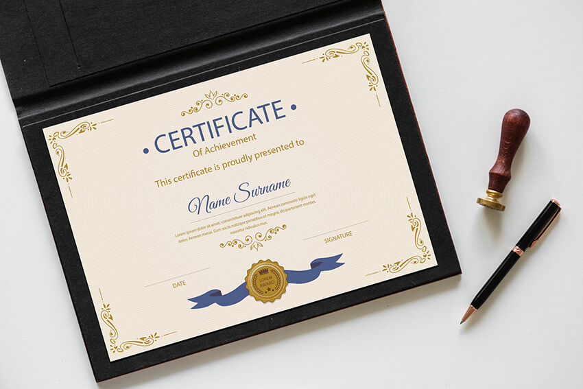 Certificate of Achievement Envato Elements Template