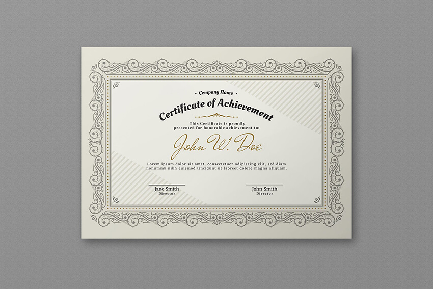 Elegant Certificate Template on Envato Elements