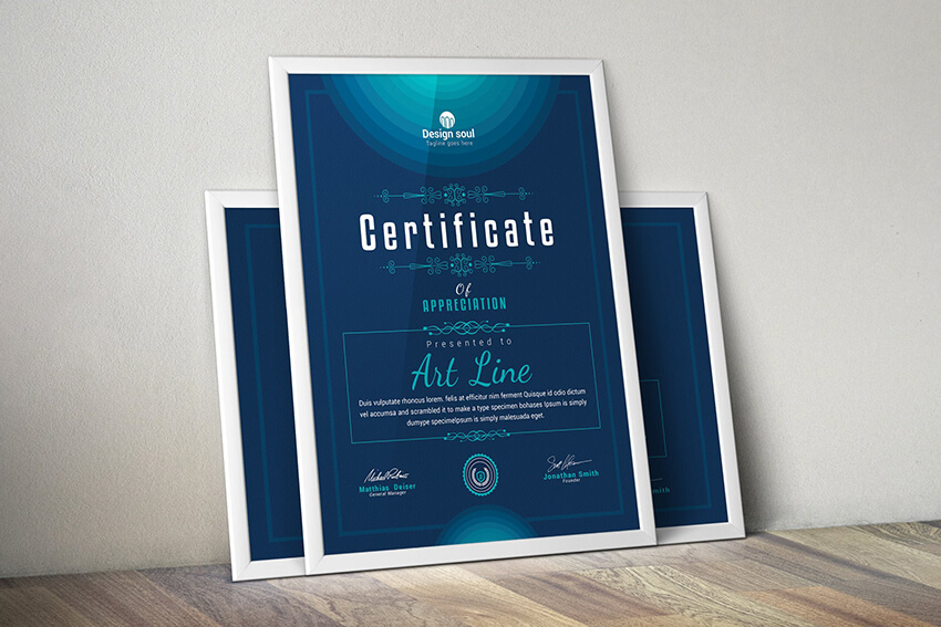 Simple Multipurpose Certificate Template
