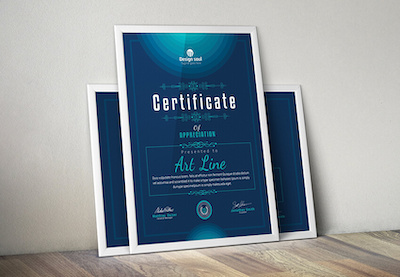 Free certificate templates preview