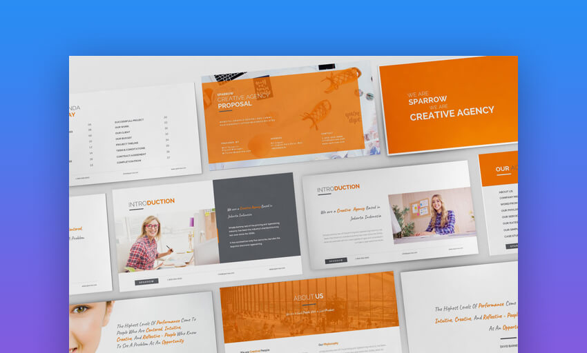 Sparrow - Creative Agency PowerPoint Template