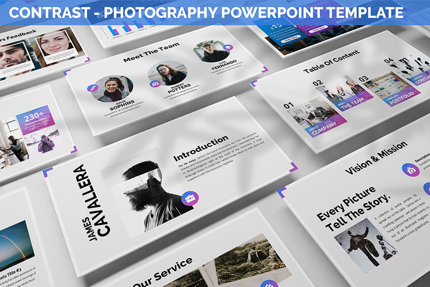Contrast photography presentation template