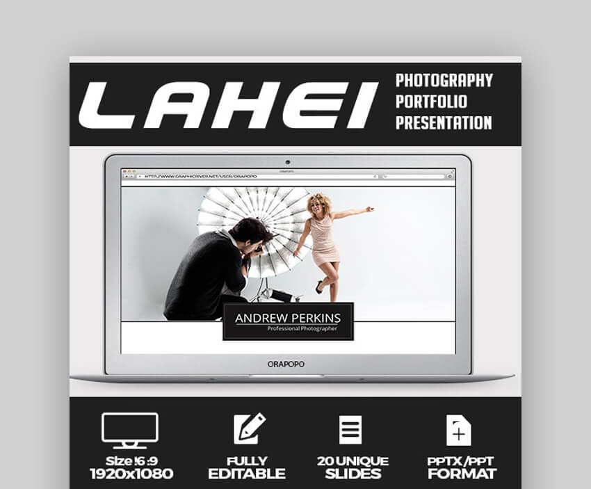 Lahei Clean Photography PowerPoint Template