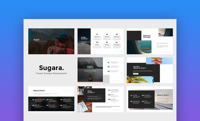 Sugara - Custom Travel PowerPoint Templates