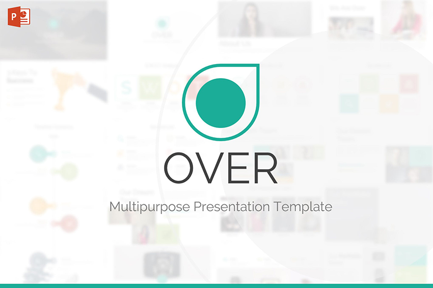 Over PowerPoint Template on Envato Elements