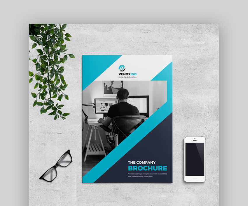 Brochure - Trendy Corporate Brochure Design Template