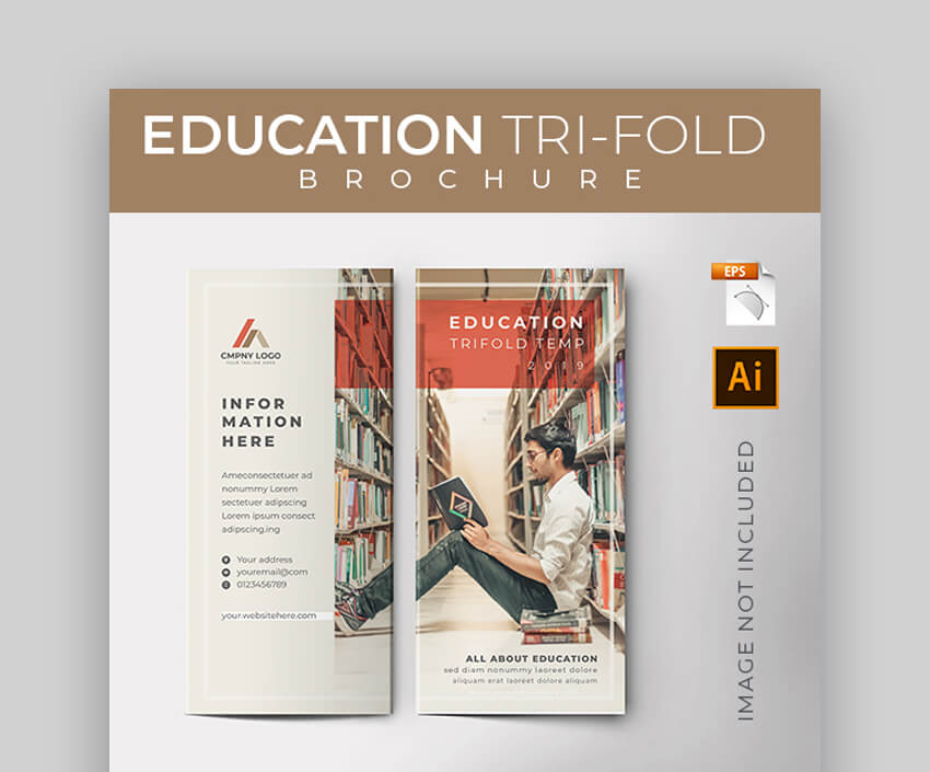 Education Trifold Brochure - Minimal Brochure Design