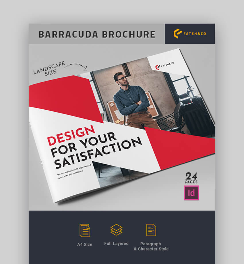 Barracuda Brochure - Landscape Brochure Template Design