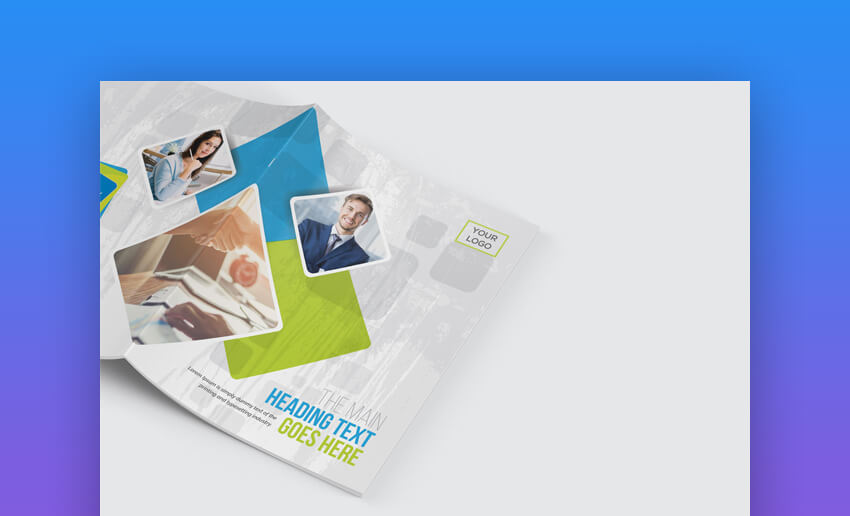 Bifold Brochure - Simple Corporate Brochure Design