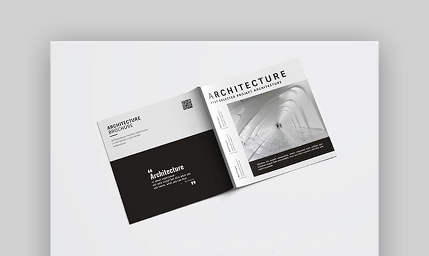 Square Architecture Brochure - Contemporary Brochure Design