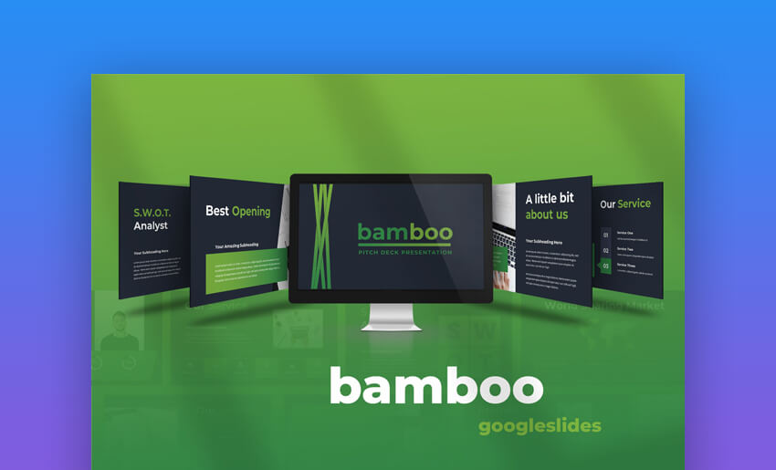 Bamboo - Clean Google Slides Pitch Deck Template