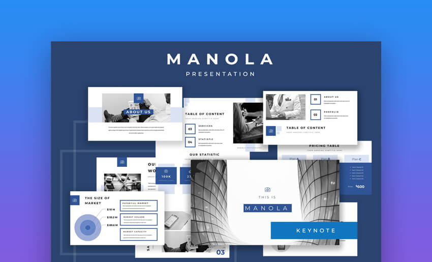 Manola - Startup Keynote Pitch Deck Template