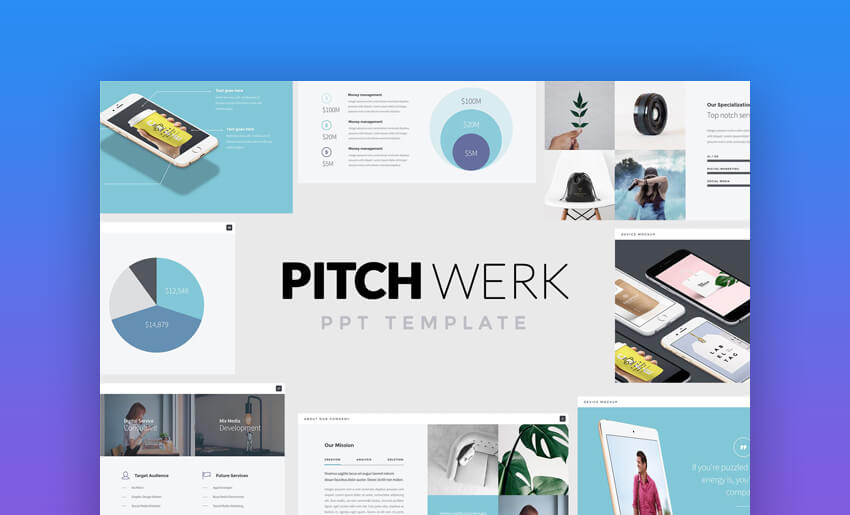 Pitch Werk - Elegant PowerPoint Pitch Deck Template