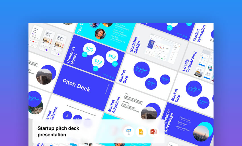 Startup - Pitch Deck Presentation Template In PPT Format
