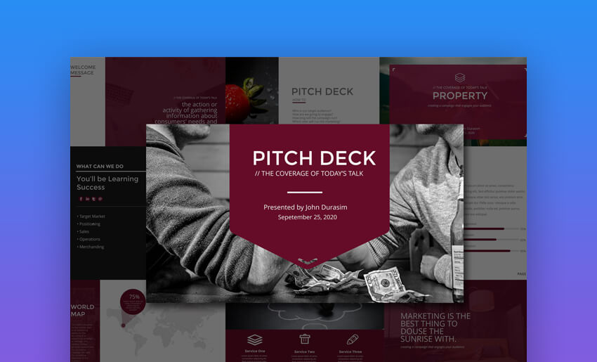 Business Pitch Deck - Creative PowerPoint Pitch Deck Template