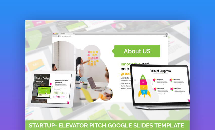 Startup - Colorful Google Slides Startup Pitch Template