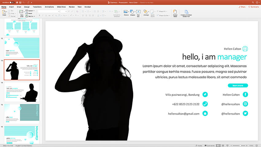Clammos PowerPoint Template