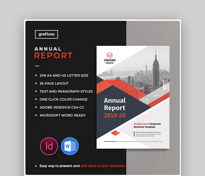 Annual Report - InDesign and Word Template Design