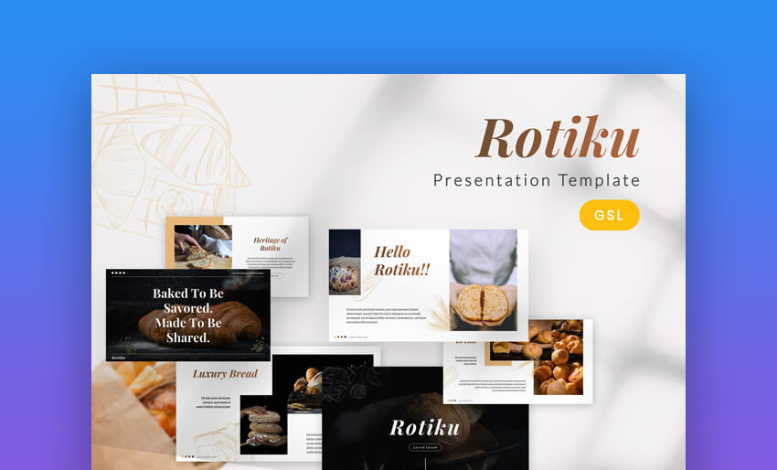 Rotiku - Professional Bakery Google Slides Template
