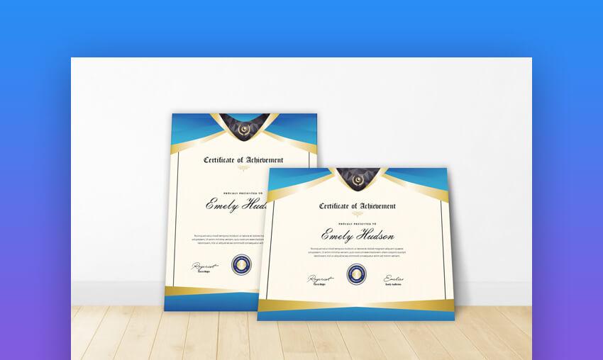 Certificate - Classic Certificate Google Docs Template
