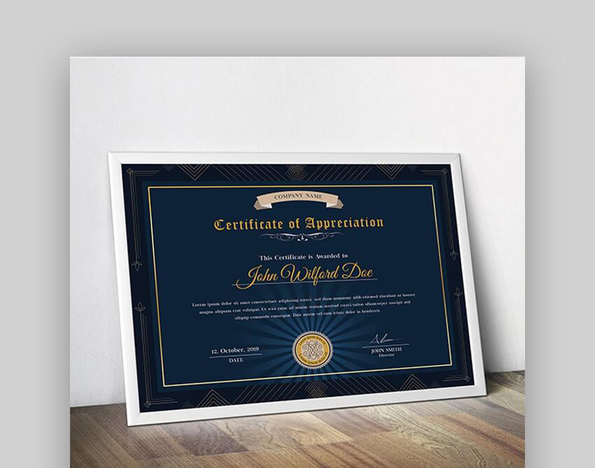 Certificate - Google Docs Certificate Template