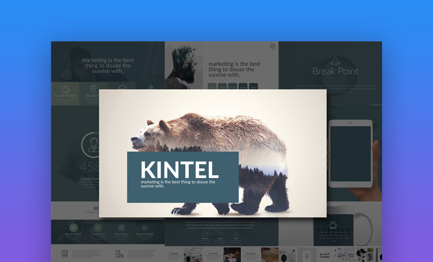 Kintel - Modern Nature Google Slides Template