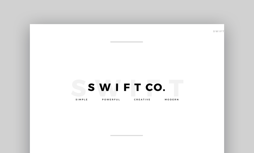 Swift - Minimal Google Slides Template