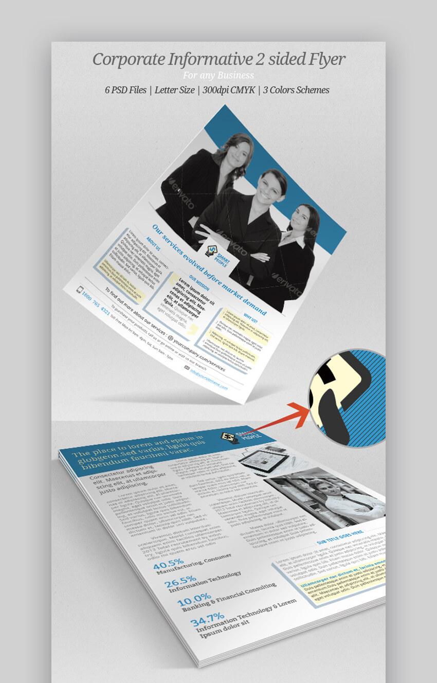 Corporate Informative  Elegant Informational Flyer Template
