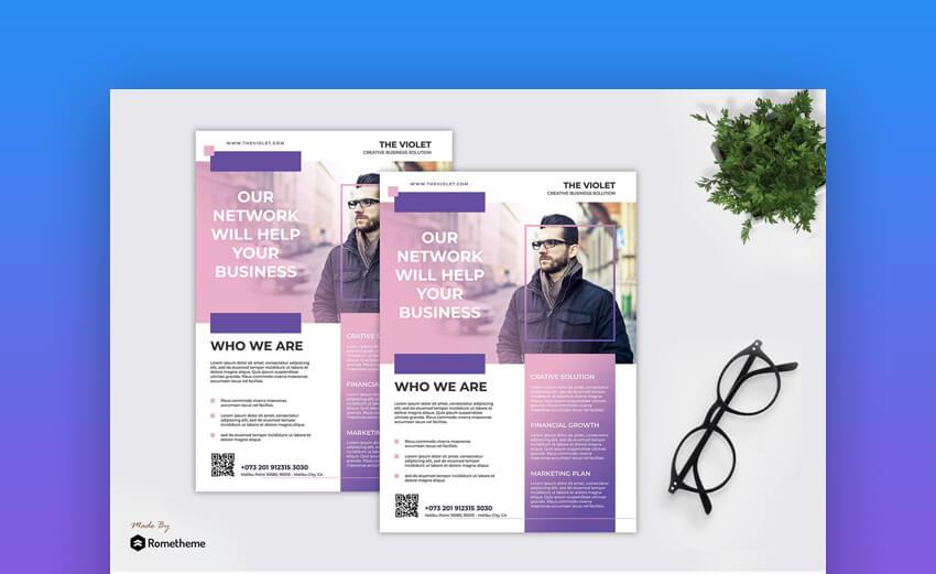 Violet  Corporate Business Informational Template Design