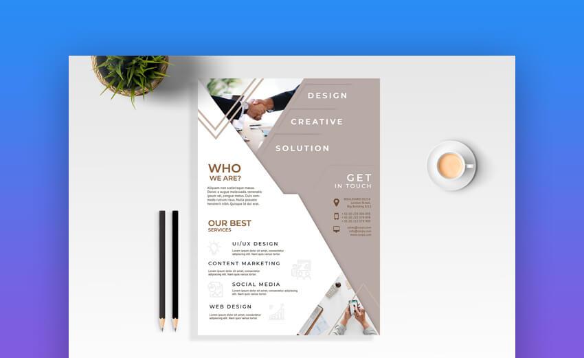 Business Flyer  Modern Information Template