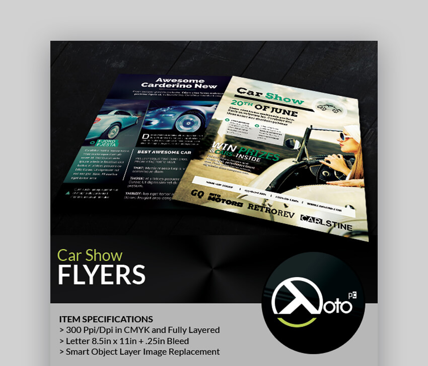 Car Show Information Sale Flyers  Bold Informational Template