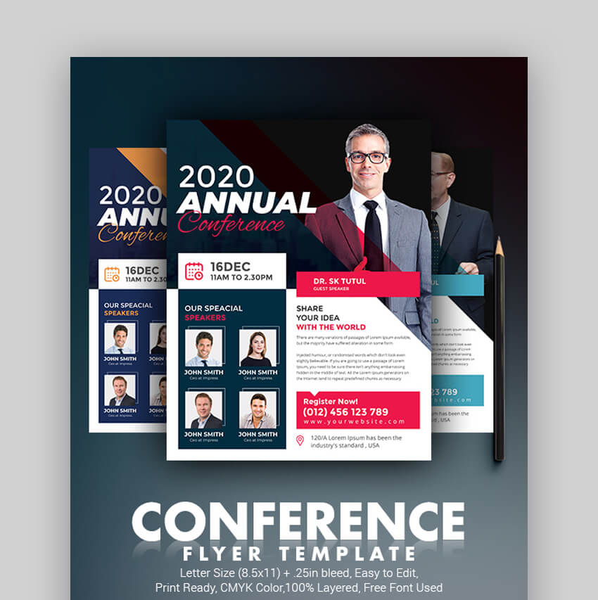 Business Conference  Cool Informational Flyer Template