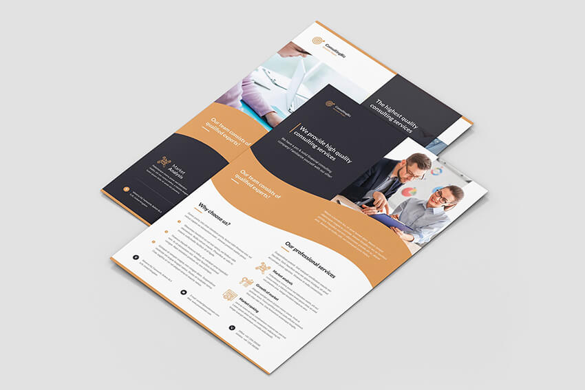 One Page Informational Flyer Template