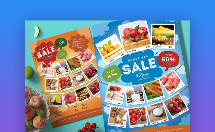 Supermarket Product Flyer  Multipurpose Template